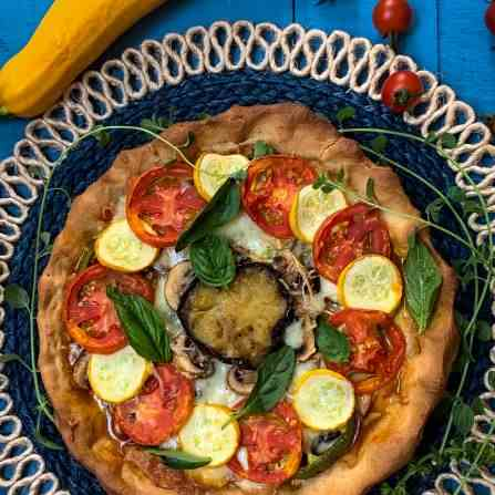 a healthy french pizza tart