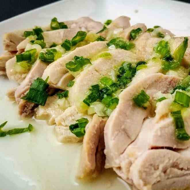 Chicken with Scallion and Ginger Sauce