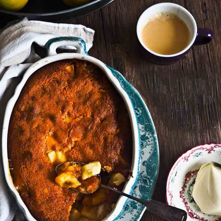 Quince - Apple Golden Syrup Pudding