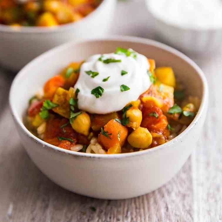 Moroccan Chickpea Vegetarian Stew