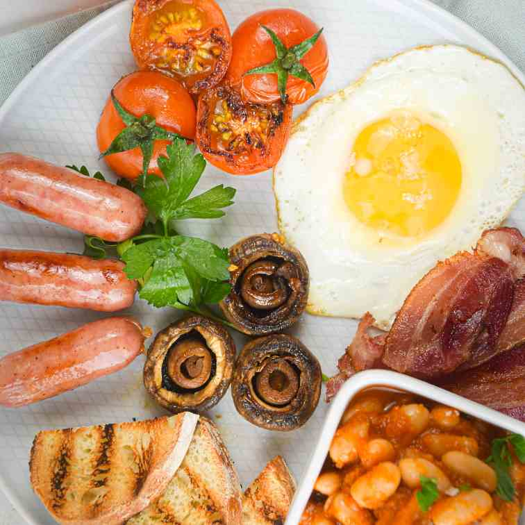 Electric Skillet Full English Breakfast