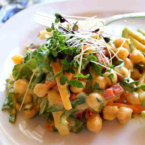 Garbanzo Bean Salad with Mango Dressing