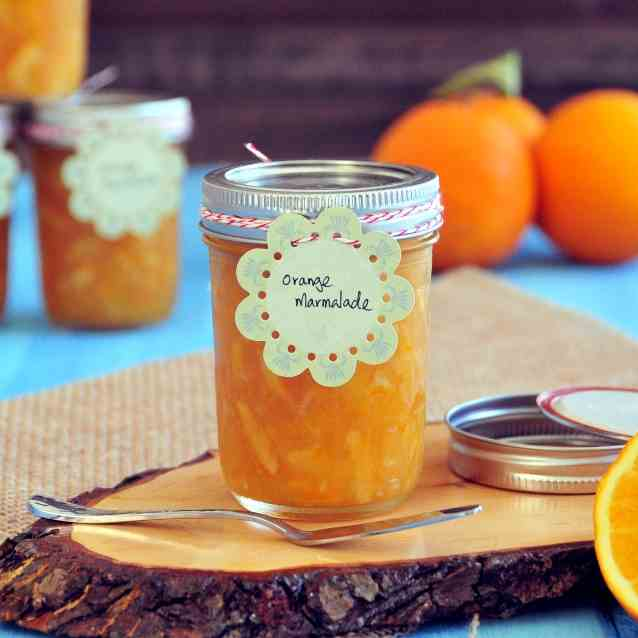 Orange Marmalade with Meyer Lemon