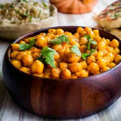 Spiced Chickpeas In Coconut Milk