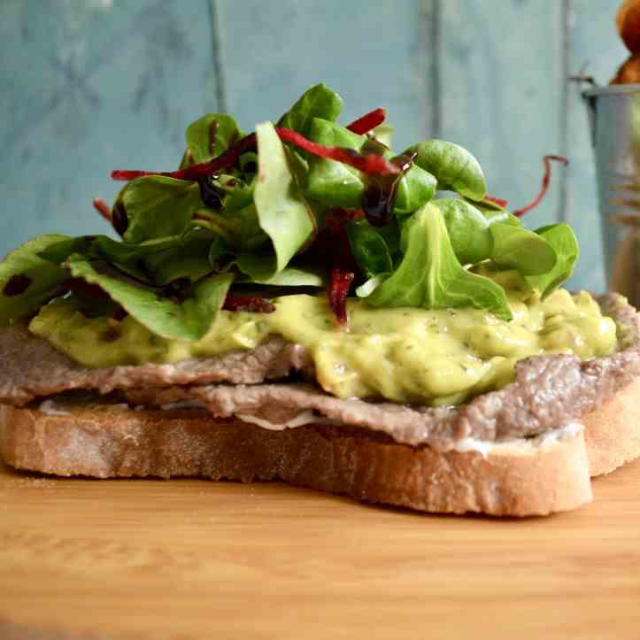 Gluten - Dairy Free Avocado Steak Sandwich