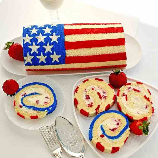 How to Make a Flag Cake Roll