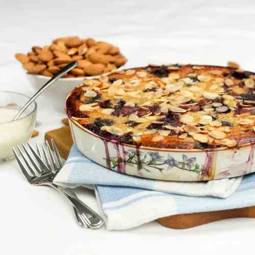 Healthy Cherry Almond Clafoutis