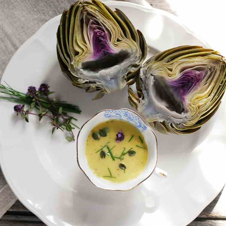 Artichoke With Orange Vinaigrette