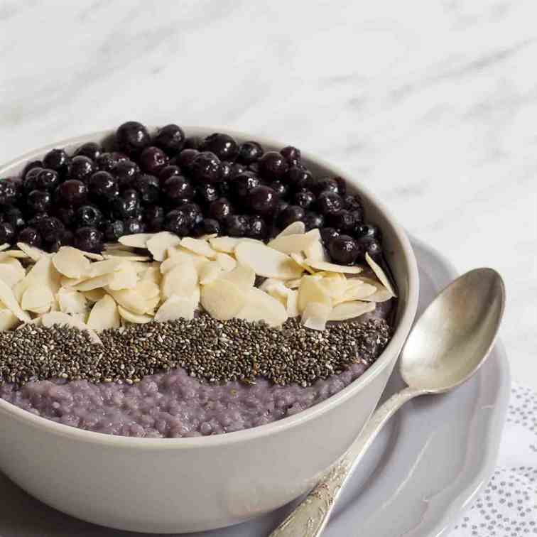 Warm Blueberry Millet Porridge