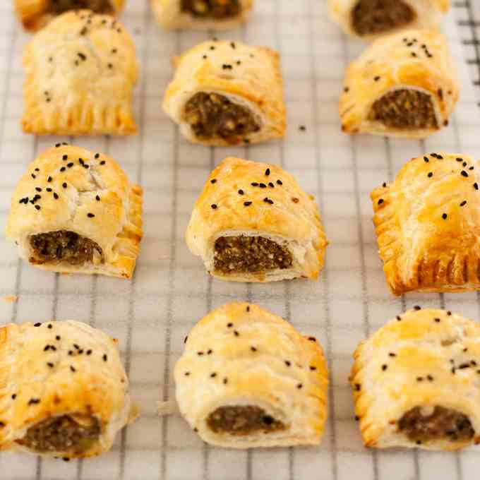 Turkey Stuffing Sausage Rolls