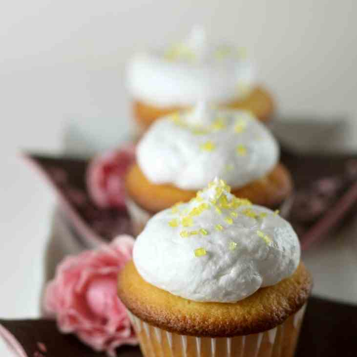 Passion Fruit Meringue Cupcakes