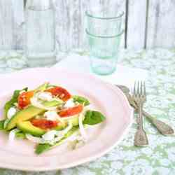 Fennel salad with avocado and red orange