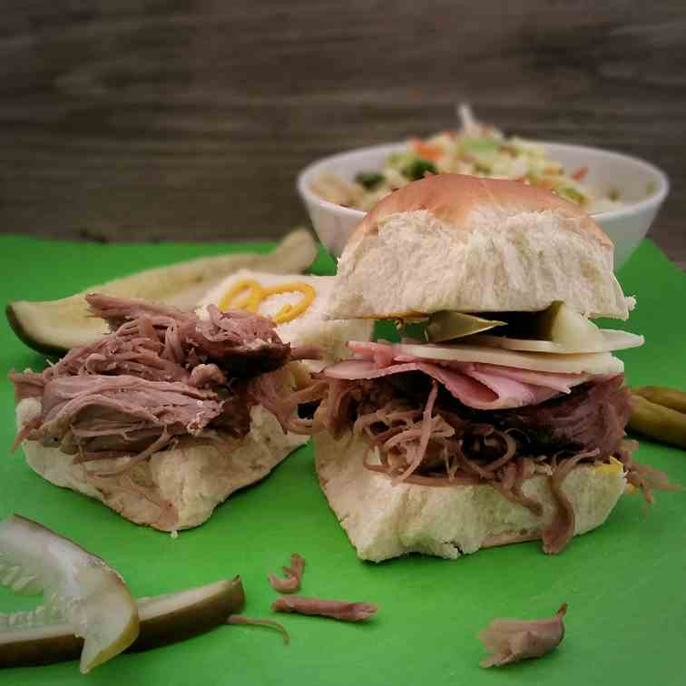 Slow Cooked Cubano Sliders
