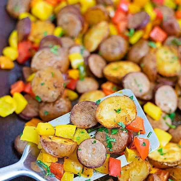 Kielbasa and Potato Sheet Pan Dinner