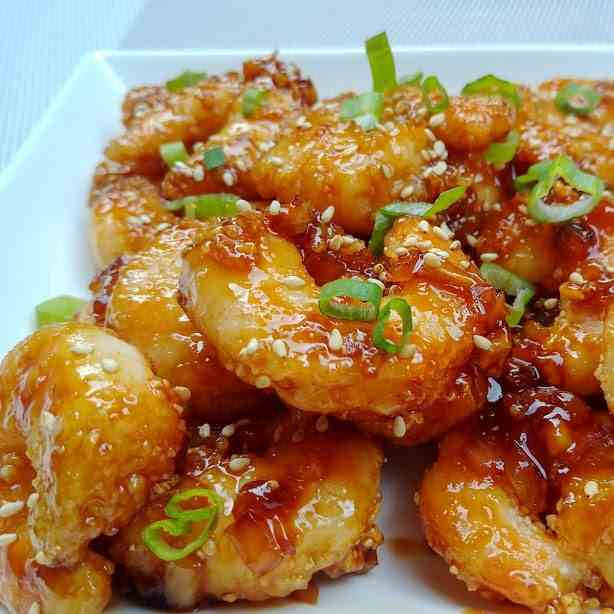 Sweet and Spicy Korean Fried Shrimp