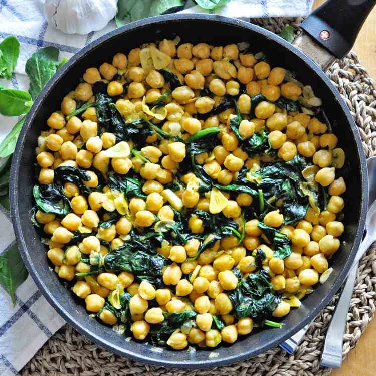 Chickpea - Spinach Skillet
