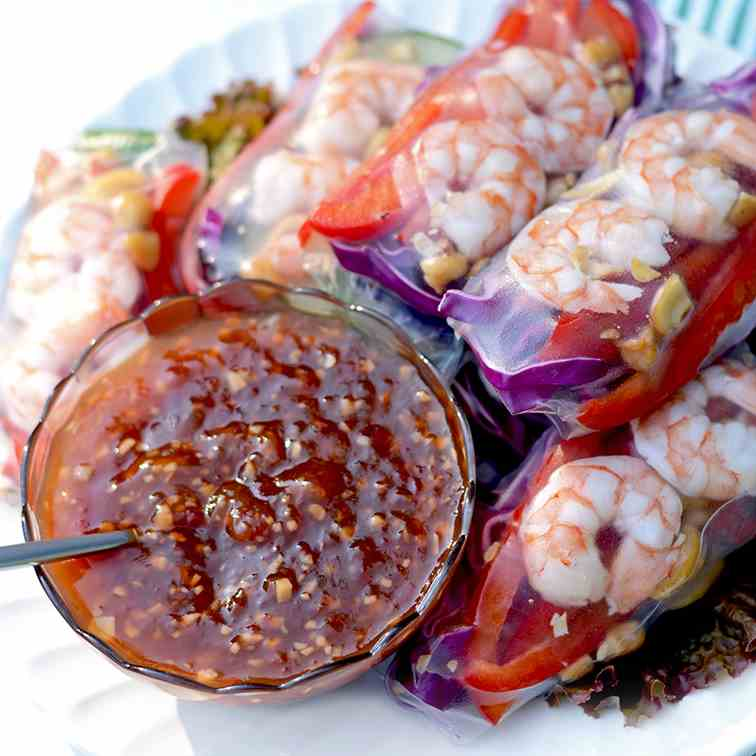 Summer Rolls with Tropical Chili Sauce