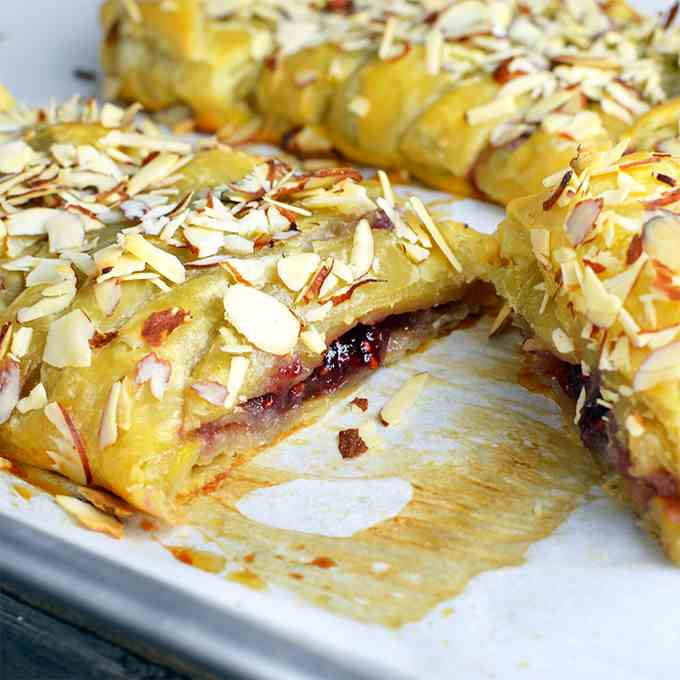 Bear Claw With A Raspberry Twist
