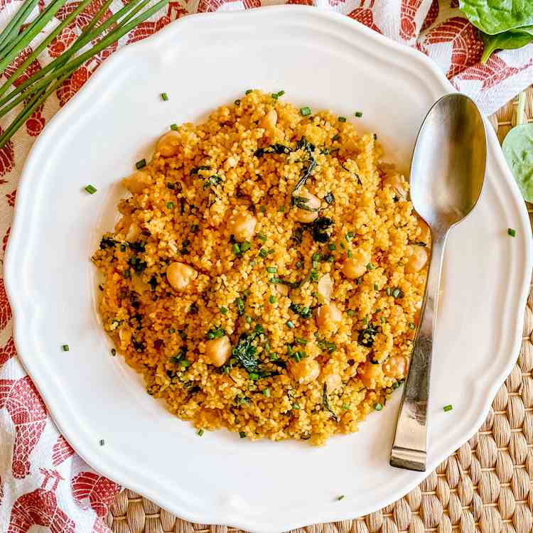 Couscous with Spinach - Chickpeas