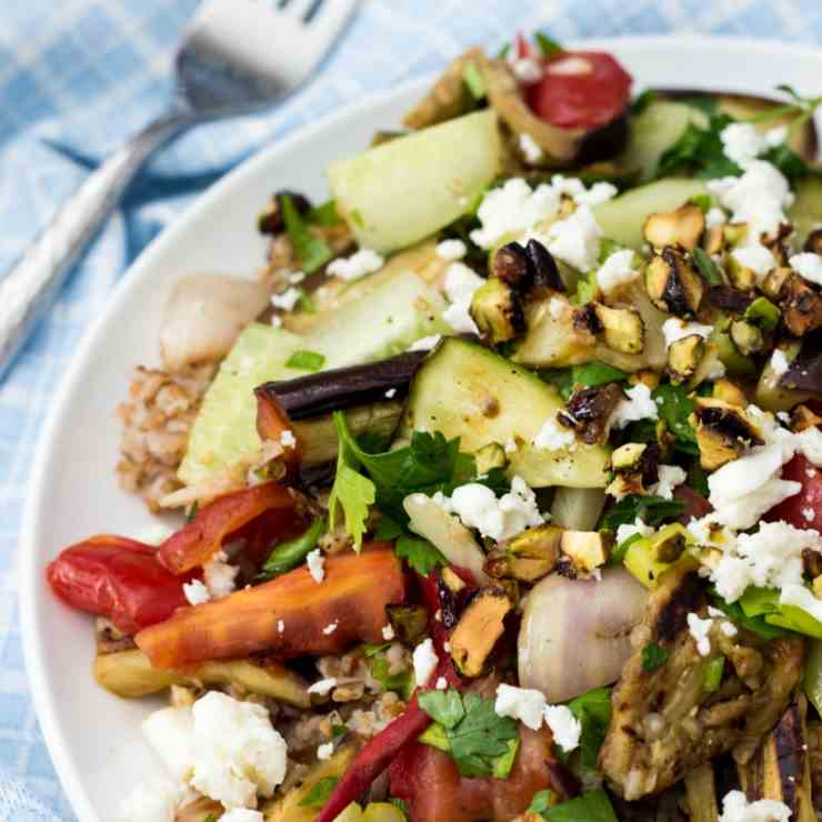 Bulgur Tabbouleh Salad With Grilled Veggie