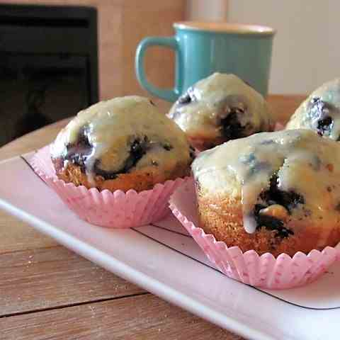Lemon-Glazed Blueberry Muffins
