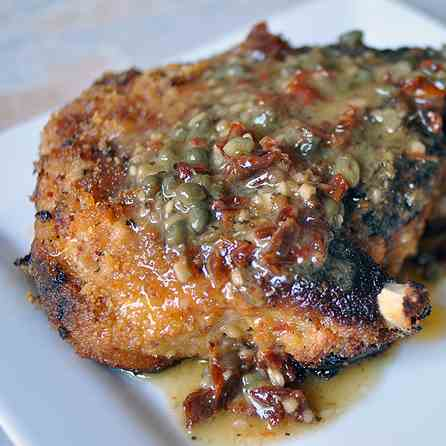 Sun-dried Tomato Crusted Pork Chops