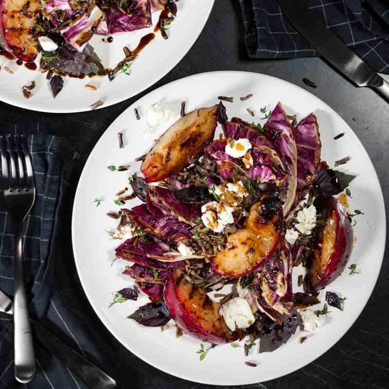 Grilled Radicchio and Plum Salad