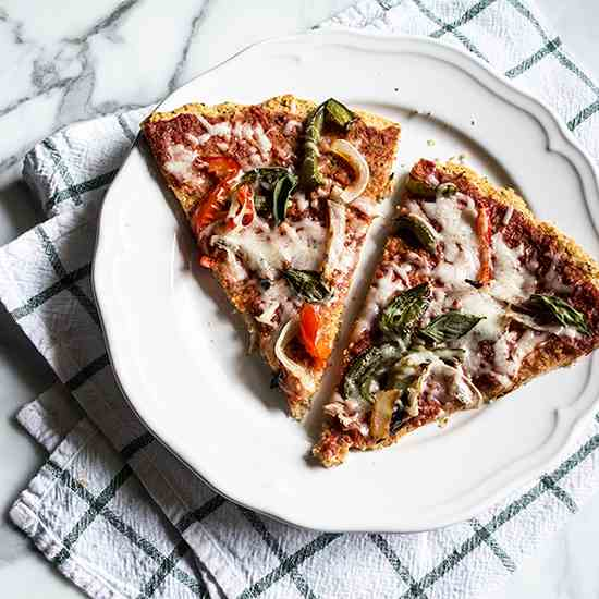 Roasted Veggie Pizza with Lentil Crust