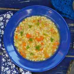 Barley Soup with Turkey Meatballs