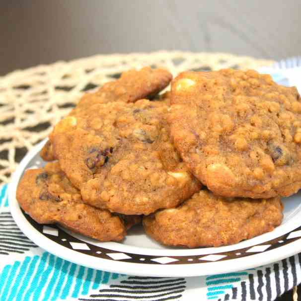 Pumpkin Cranberry Chocolate Chip Cookies