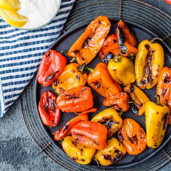 Blistered Sweet Peppers