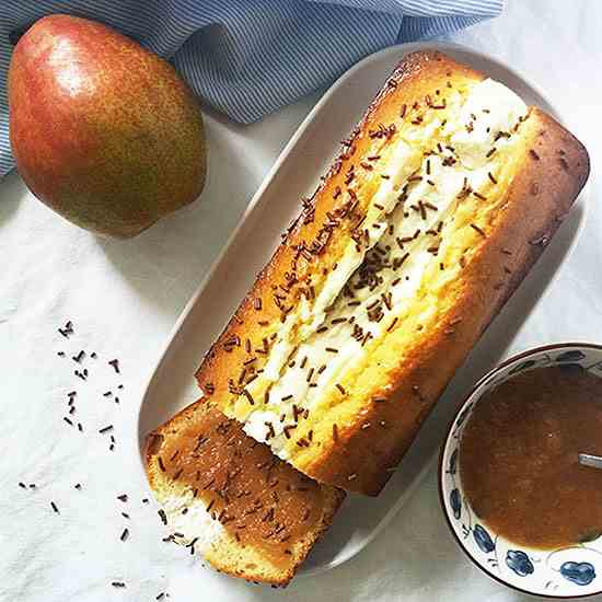 Pear Butter Cream Cheese Bread