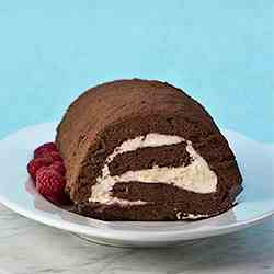 Chocolate Rolled Angel Cake