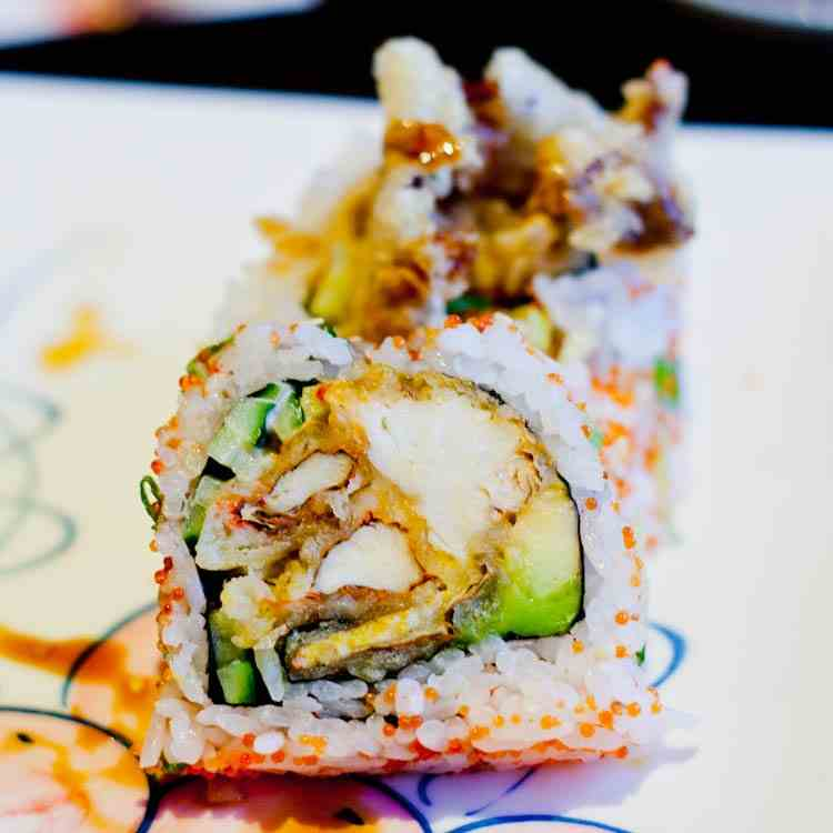 Spider Roll with Soft Shell Crab