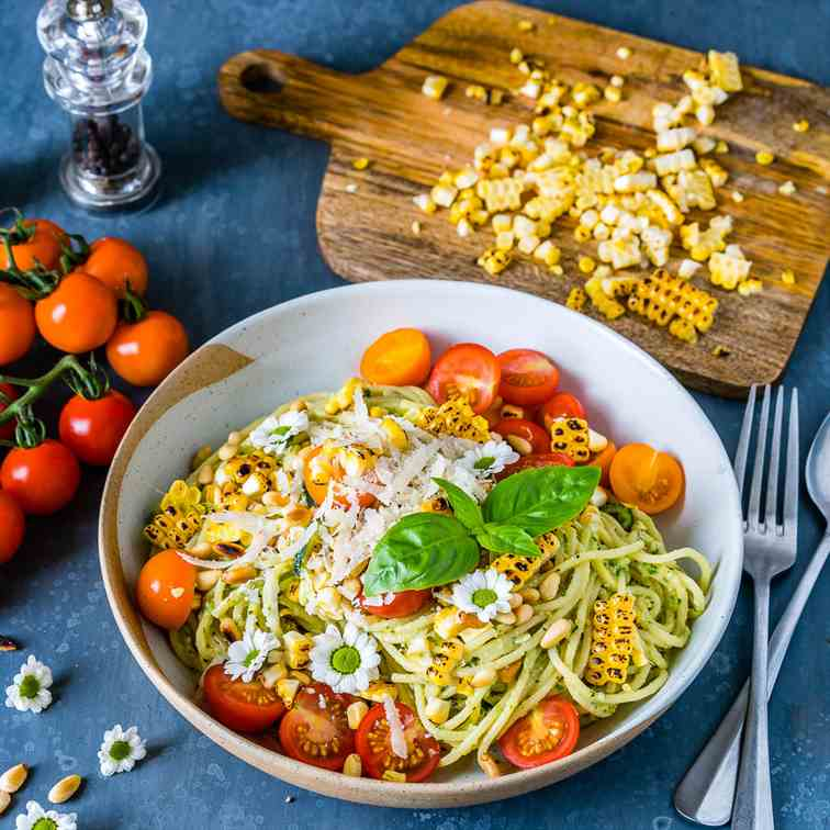 Zucchini Noodles Pasta With Pesto