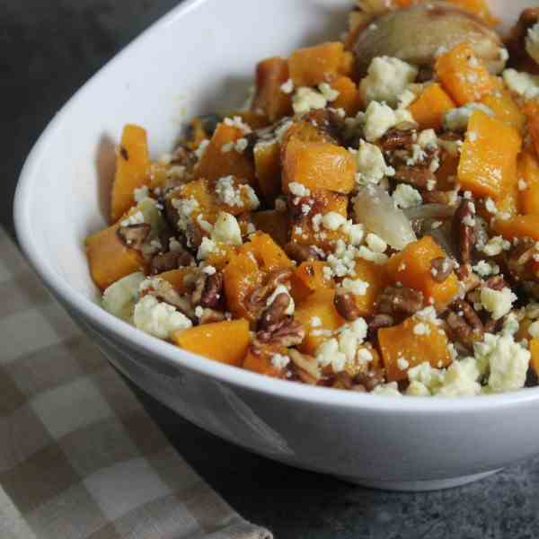 Butternut Squash with Pecans, Shallots