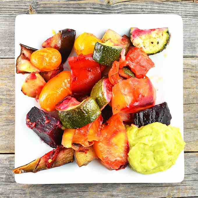 Roasted Vegetables With Avocado