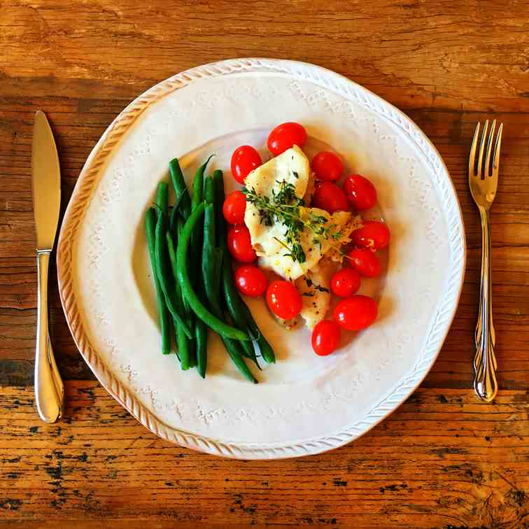 Baked Fish with Thyme