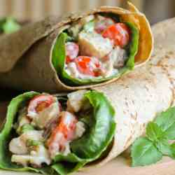 Bacon Blue Cheese Chicken Wraps