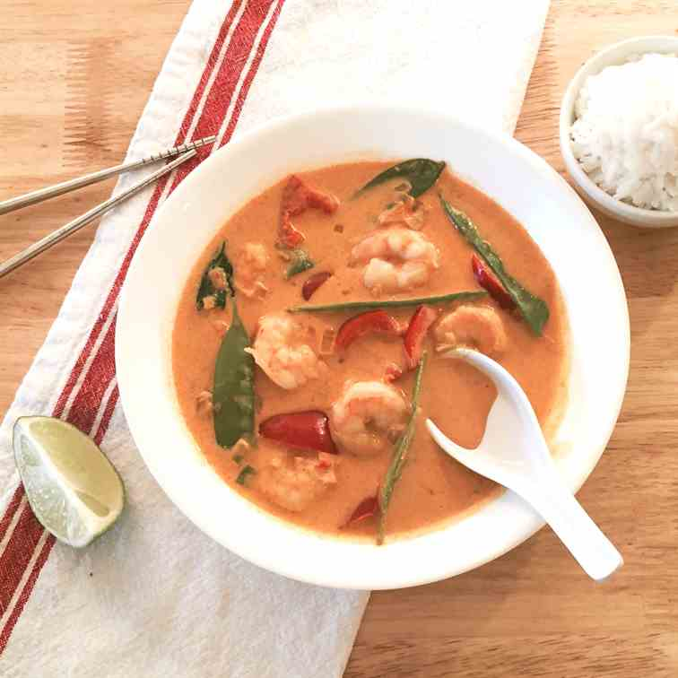 Thai Red Coconut Curry with Shrimp