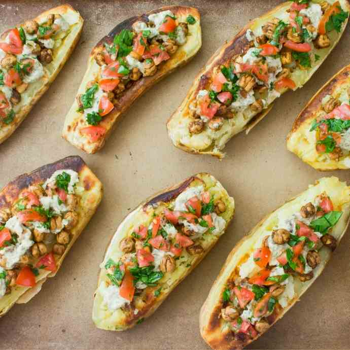 Stuffed Mediterranean Baked Potato
