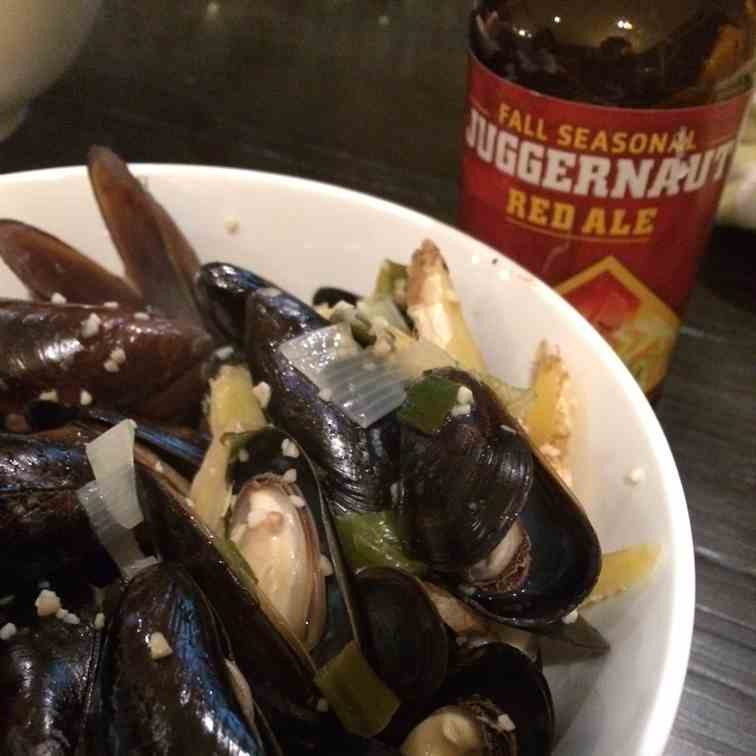 Grill Steam Mussels