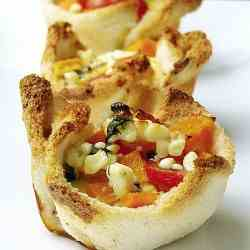 Squash, Tomatoes, and Feta Cheese Quiche