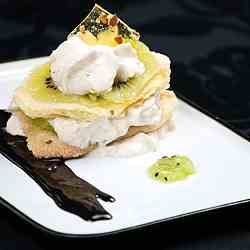 Olive oil tortas millefeuille