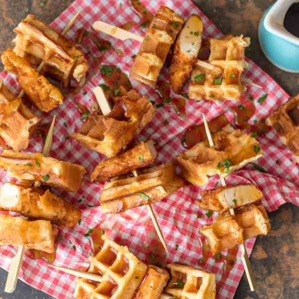 Chicken and Waffles on a Stick