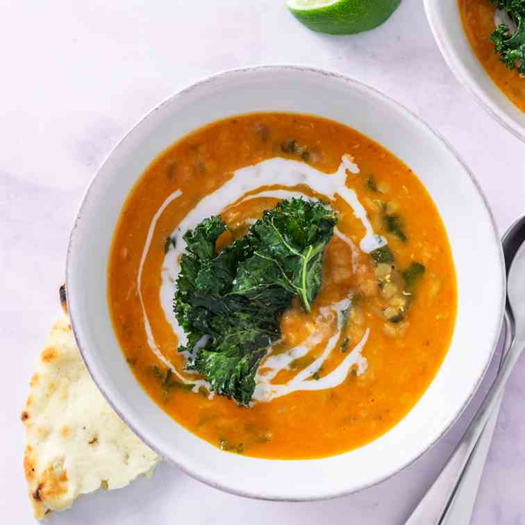 Thai Red Curry Lentil Soup