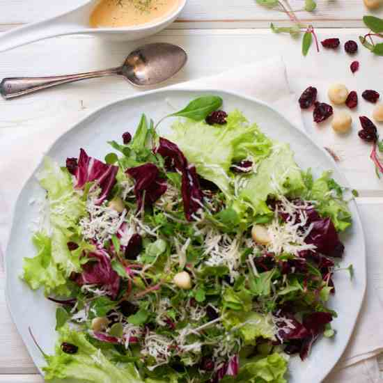 Radicchio and Wild Greens Salad