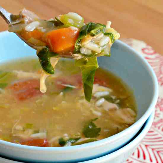 Chicken Quinoa and Rice Soup