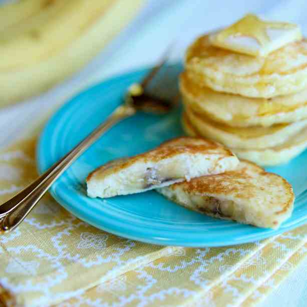 Banana Stuffed Pancakes
