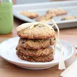 Oatmeal Cranberry and Raisin Cookies